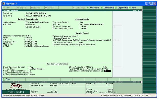 Tally ERP 9 License Key